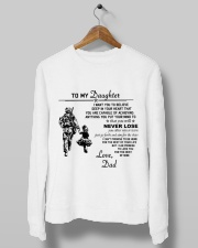 Make it the meaningful message to your daughter Crewneck Sweatshirt lifestyle-unisex-sweatshirt-front-10