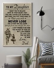 Make it the meaningful message to your daughter 24x36 Poster lifestyle-poster-1