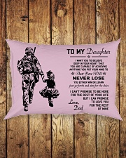 Make it the meaningful message to your daughter Rectangular Pillowcase aos-pillow-rectangle-front-lifestyle-2