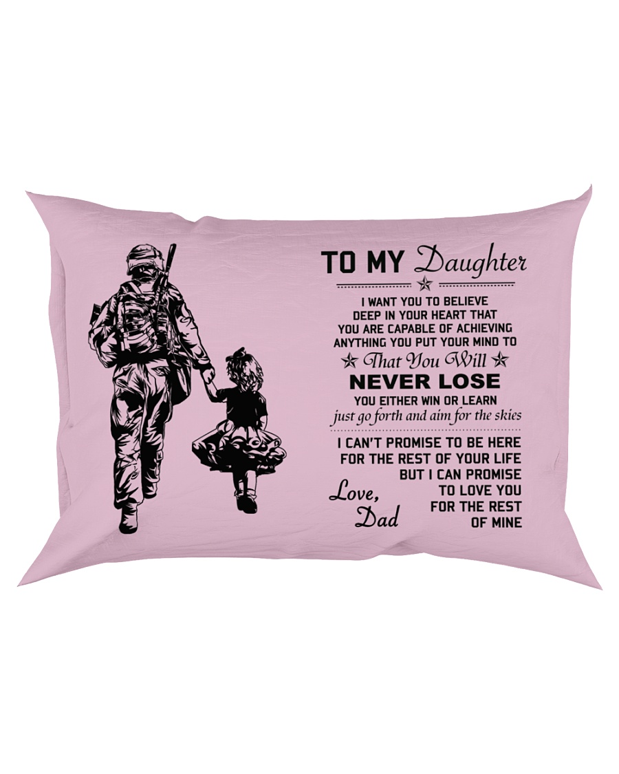 Make it the meaningful message to your daughter Rectangular Pillowcase showcase