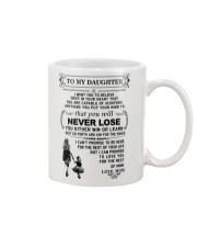 Make it the meaningful message to your daughter Mug front