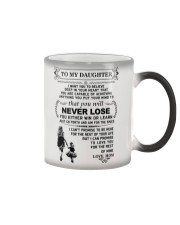 Make it the meaningful message to your daughter Color Changing Mug thumbnail