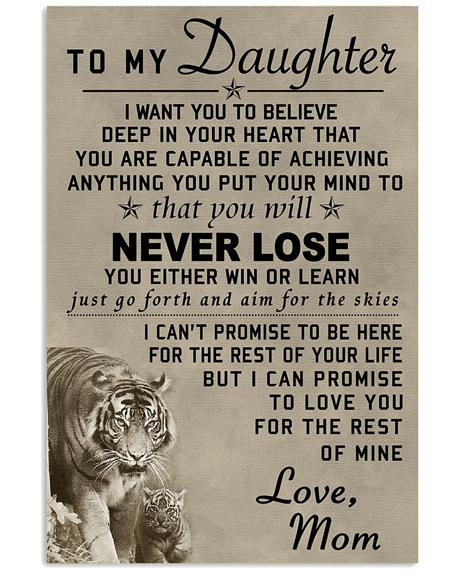 Make it the meaningful message to your daughter 11x17 Poster