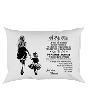 Make it the meaningful message to your daughter Rectangular Pillowcase back
