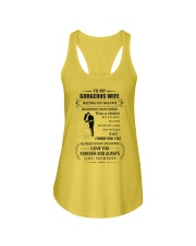 Make it the meaningful message to your husband Ladies Flowy Tank tile
