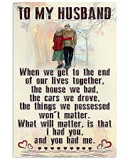 Make it the meaningful message to your husband 24x36 Poster front
