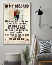 Make it the meaningful message to your husband 24x36 Poster lifestyle-poster-1