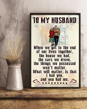 Make it the meaningful message to your husband 24x36 Poster lifestyle-poster-3