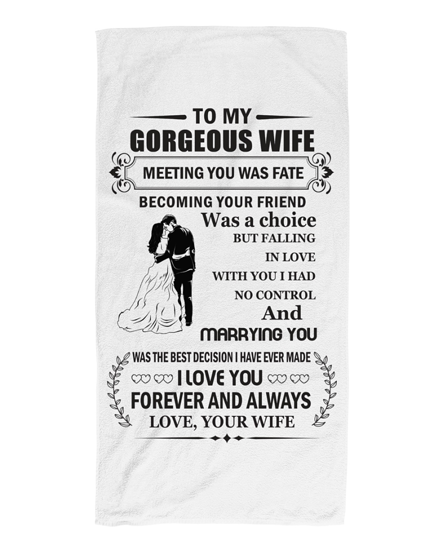 Make it the meaningful message to your husband Beach Towel showcase