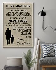Make it the meaningful message to your grandson 11x17 Poster lifestyle-poster-1