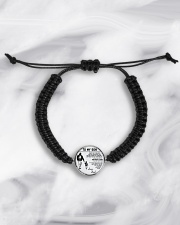 Make it the meaningful message to your son Cord Circle Bracelet aos-bracelet-cord-front-lifestyle-5