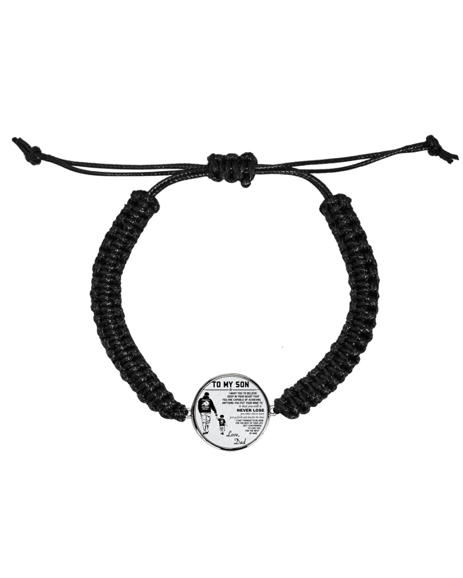 Make it the meaningful message to your son Cord Circle Bracelet