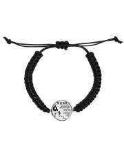 Make it the meaningful message to your son Cord Circle Bracelet front