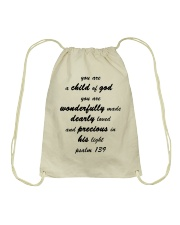 Make it the meaningful message to your children Drawstring Bag thumbnail