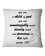 Make it the meaningful message to your children Square Pillowcase thumbnail