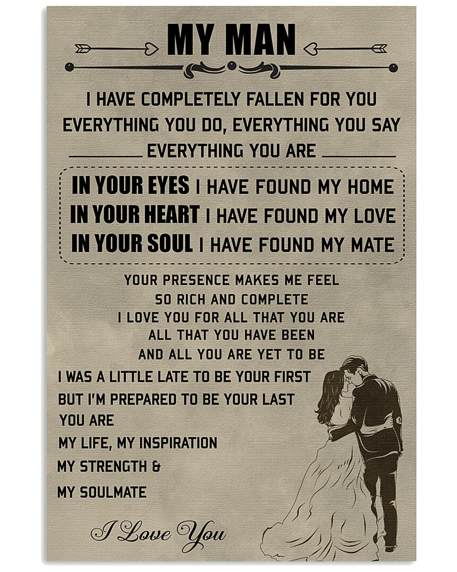 Make it the meaningful message to your man 11x17 Poster