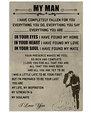 Make it the meaningful message to your man 11x17 Poster front