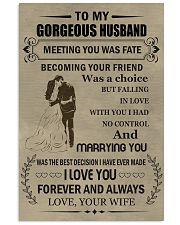 Make it the meaningful message to your Husband Vertical Poster tile
