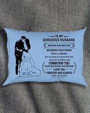 Make it the meaningful message to your Husband Rectangular Pillowcase aos-pillow-rectangle-front-lifestyle-1