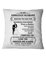 Make it the meaningful message to your Husband Square Pillowcase tile