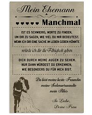 Make it the meaningful message to your husband DE 11x17 Poster front