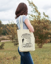 Make it the meaningful message to your Wife Tote Bag lifestyle-totebag-front-3