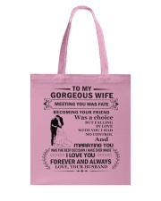 Make it the meaningful message to your wife Tote Bag tile