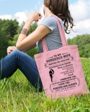 Make it the meaningful message to your wife Tote Bag lifestyle-totebag-front-6