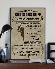Make it the meaningful message to your wife 16x24 Poster lifestyle-poster-2
