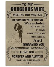 Make it the meaningful message to your wife 24x36 Poster front