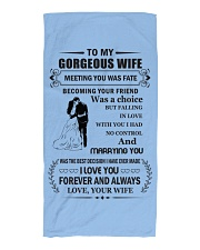 Make it the meaningful message to your wife Beach Towel front