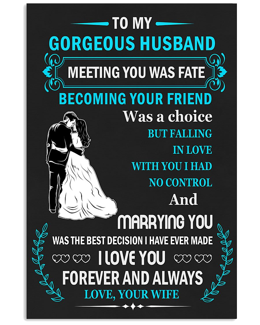 Make it the meaningful message to your husband 11x17 Poster showcase