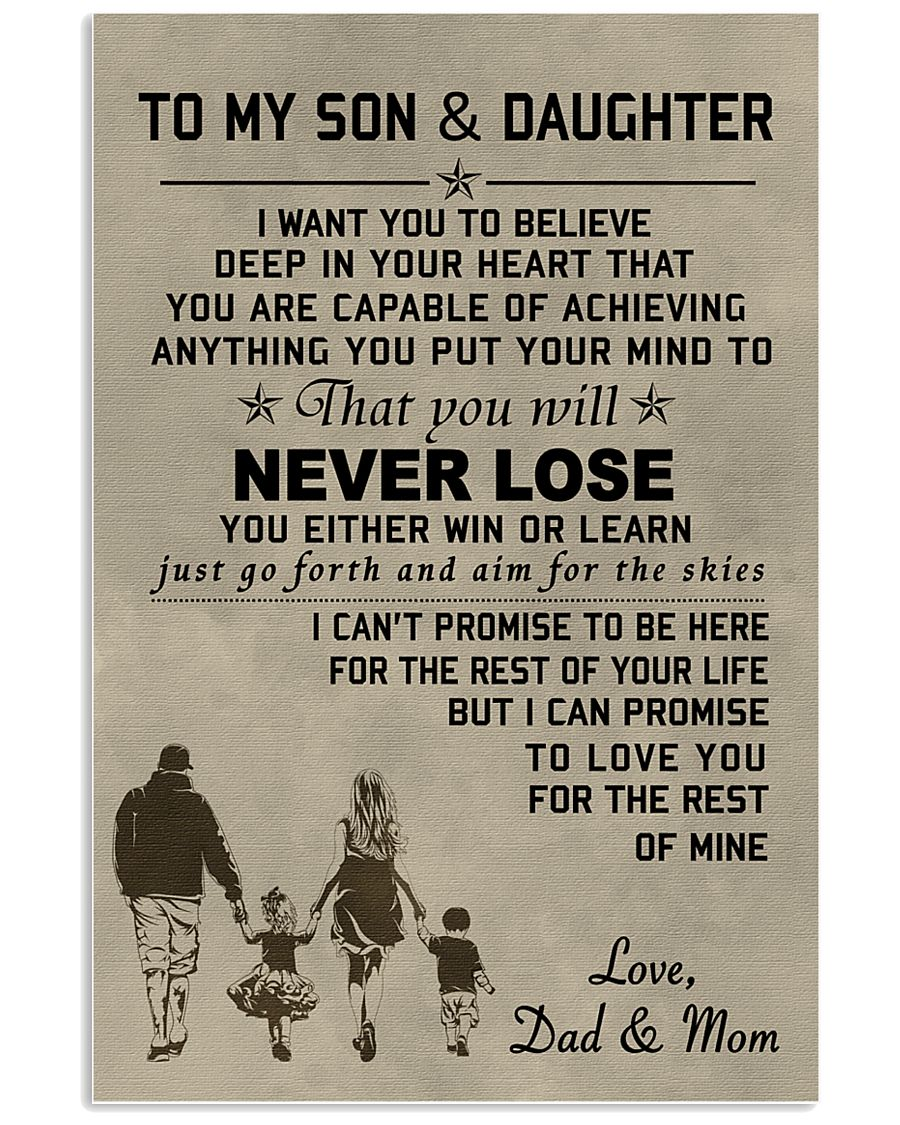 A meaningful message to your son and daughter 11x17 Poster