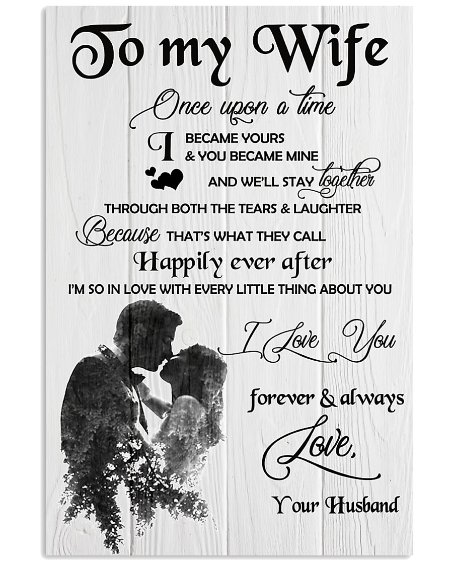 H18 Family poster - Husband to wife - I love you 11x17 Poster