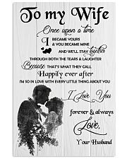 H18 Family poster - Husband to wife - I love you 11x17 Poster front