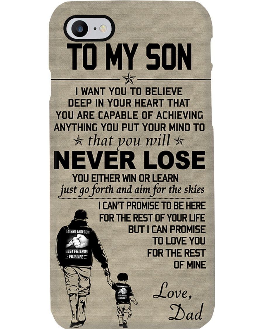 Make it the meaningful message to your son Phone Case