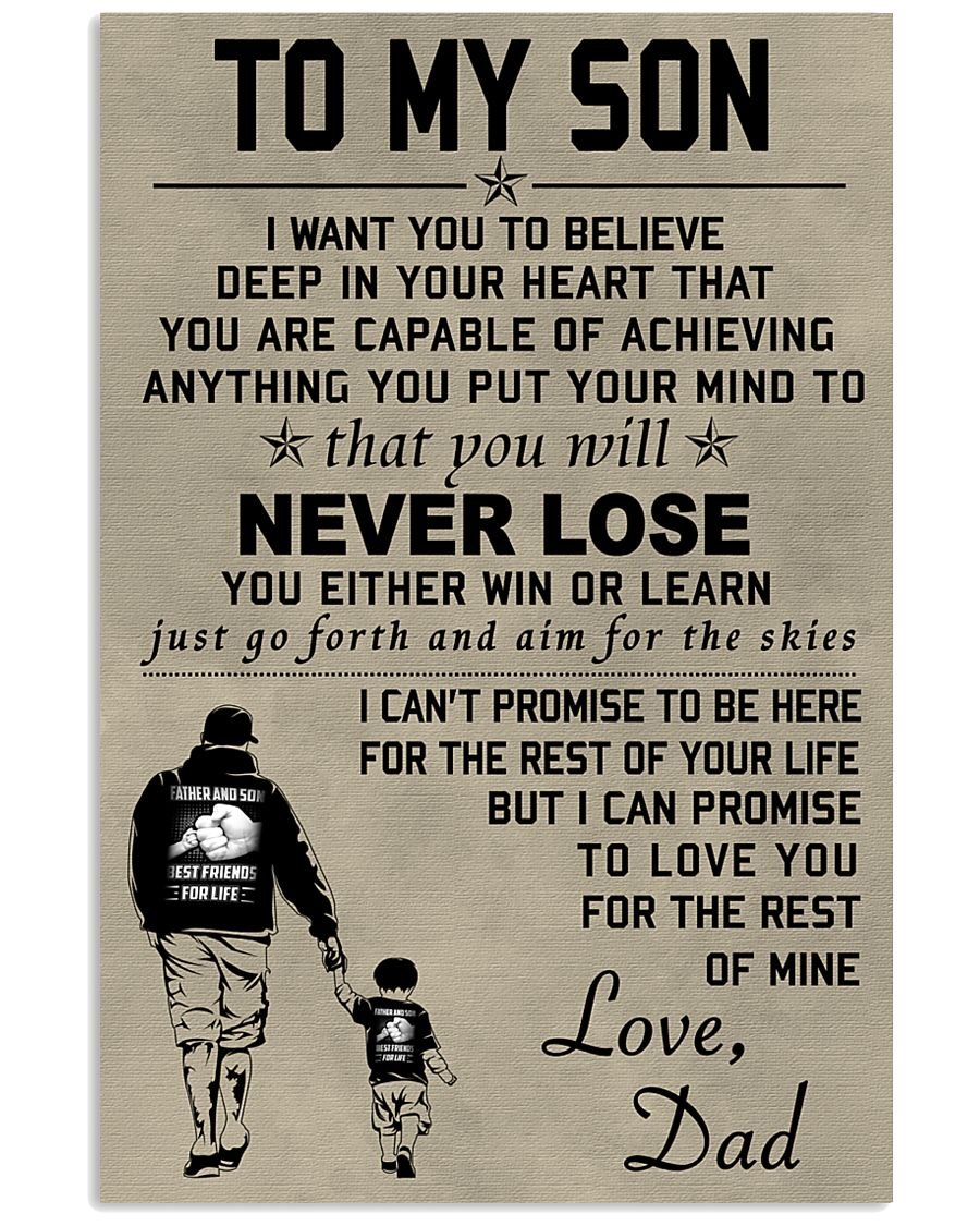 Make it the meaningful message to your son 24x36 Poster