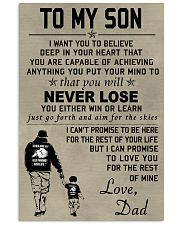 Make it the meaningful message to your son 24x36 Poster front