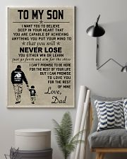 Make it the meaningful message to your son 24x36 Poster lifestyle-poster-1