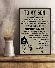 Make it the meaningful message to your son 24x36 Poster lifestyle-poster-3
