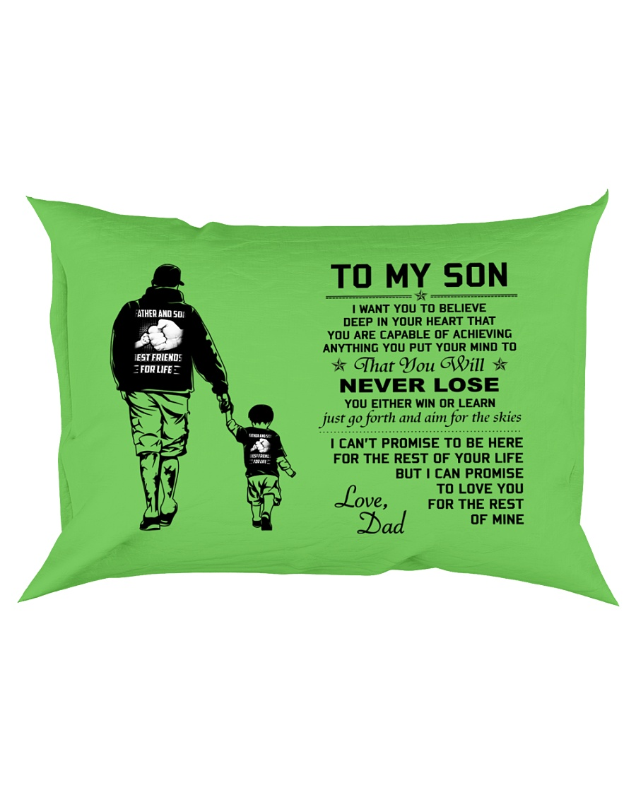 Make it the meaningful message to your son Rectangular Pillowcase showcase