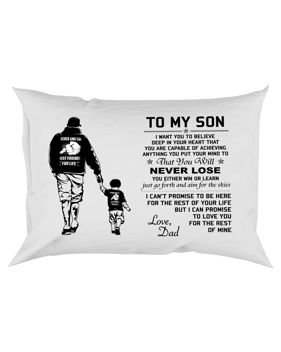 Make it the meaningful message to your son Rectangular Pillowcase