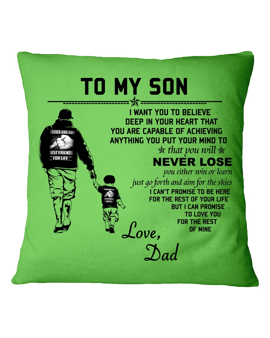 Make it the meaningful message to your son Square Pillowcase showcase