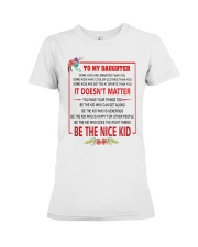 Make it the meaningful message to your son Premium Fit Ladies Tee thumbnail