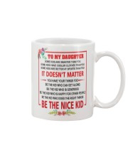 Make it the meaningful message to your son Mug front