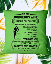 Make it the meaningful message to your husband Square Pillowcase aos-pillow-square-front-lifestyle-29