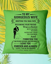 Make it the meaningful message to your husband Square Pillowcase aos-pillow-square-front-lifestyle-30