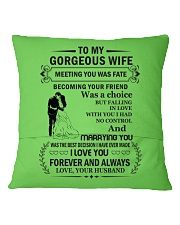 Make it the meaningful message to your husband Square Pillowcase back