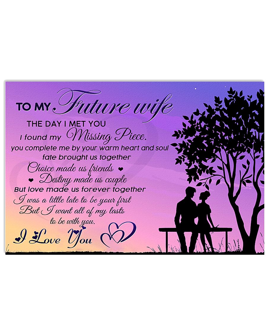 H22 Family poster - To my future wife - I love you 17x11 Poster