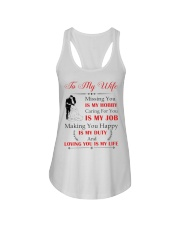 Make it the meaningful message to your wife Ladies Flowy Tank tile